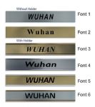 Wuhan Clock Name Plate |World Time Zone City Wall clocks Sign custom Plaque
